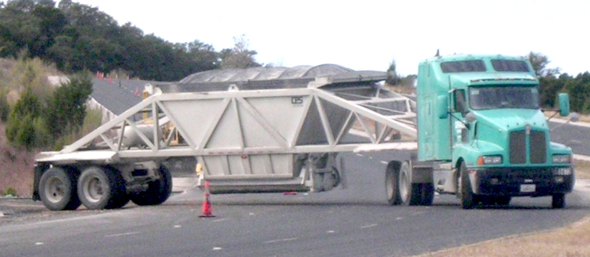 A bottom dump trailer