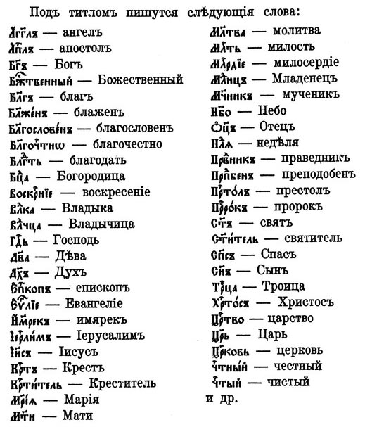Sigla frequently used in contemporary Church Slavonic