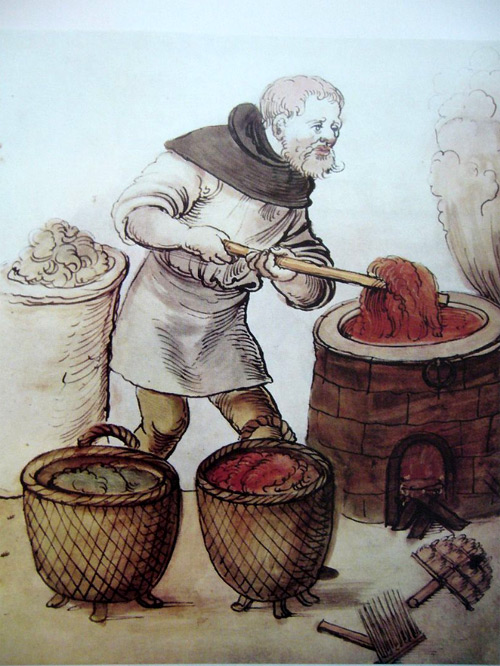Dyeing in the Middle Ages