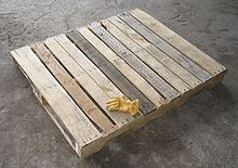 A typical wooden pallet