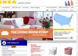 The US and German IKEA sites convey a consistent global appearance picture 02