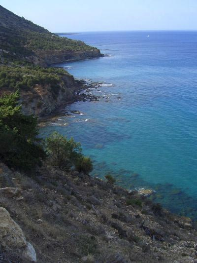 Coast along Aphrodite's paths and peninsula.