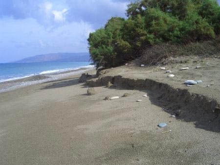Doesn't the beach erosion look uncannily similar to that at the other side of the island as shown above?