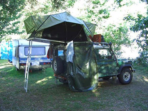 A tent on a jeep. Now THAT's nifty!