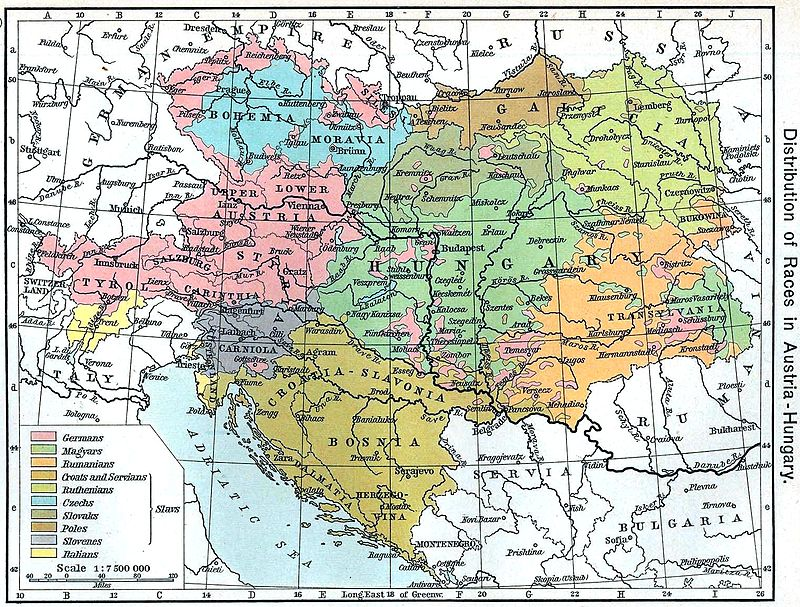 Ethnic map of Austria-Hungary