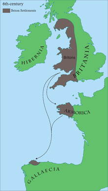 The Brythonic community around the 6th century