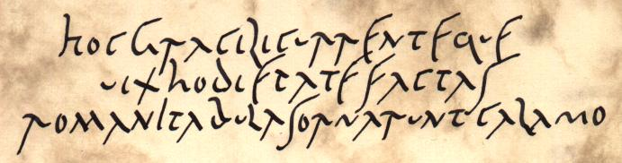 A replica of the Old Roman Cursive inspired by the Vindolanda tablets