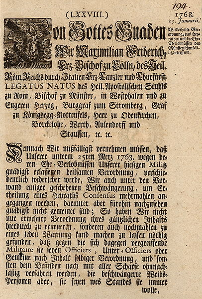 "Tironian et in the abbreviation ""etc."" at the end of the nobility title list. German printing, 1768"