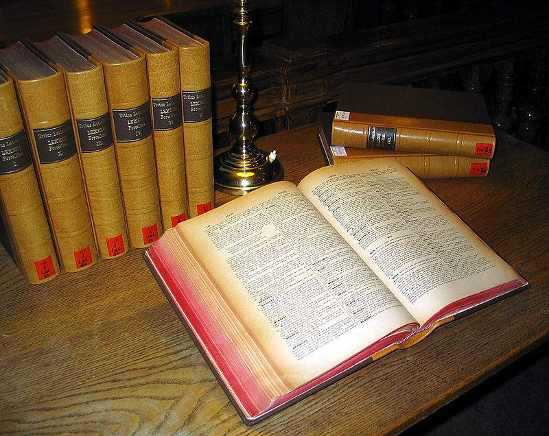 A multi-volume Latin dictionary in the University Library of Graz
