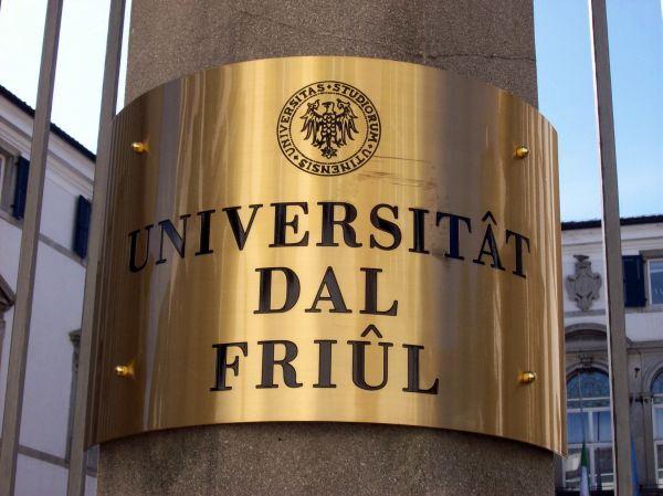 Sign of the Universitât dâl Friûl in Udine