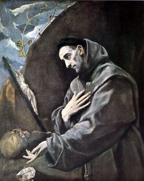 Saint Francis of Assisi, founder of the mendicant Order of Friars Minor, as painted by El Greco.