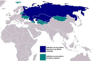 Map of the Russian language