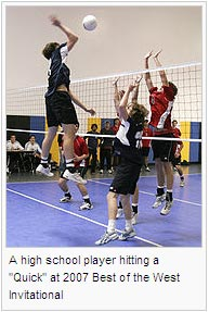 "A high school player hitting a ""Quick"" at 2007 Best of the West Invitational"