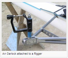 An Oarlock attached to a Rigger