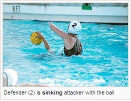 Defender (2) is sinking attacker with the ball