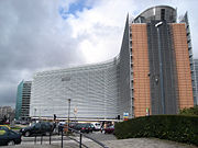 The Berlaymont in Brussels houses the European Commission.