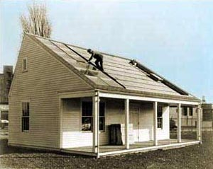 MIT's Solar House #1, built in 1939, used seasonal thermal storage for year-round heating