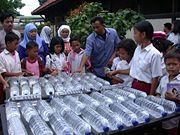 A SODIS application in Indonesia demonstrates the simplicity of this approach to water disinfection