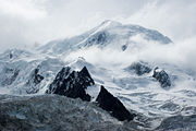 Mont Blanc in the Alps is the highest peak in the EU.