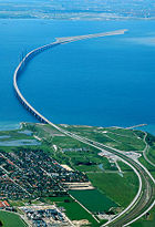 The Oresund Bridge between Denmark and Sweden is part of the Trans-European Networks