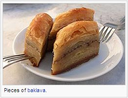 Pieces of baklava
