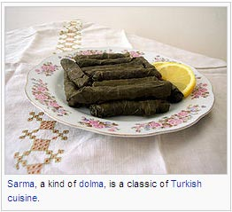 Sarma, a kind of dolma, is a classic of Turkish cuisine