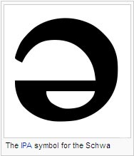 The IPA symbol for the Schwa