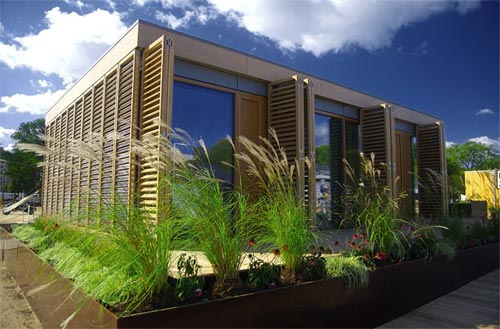 Darmstadt University of Technology won the 2007 Solar Decathlon with this passive house designed specifically for the humid and hot subtropical climate in Washington, D.C.
