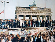 The Iron Curtain's fall enabled eastward enlargement. (Berlin Wall)