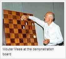 Wouter Mees at the demonstration board