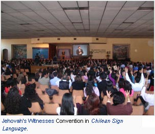 Jehovah's Witnesses Convention in Chilean Sign Language