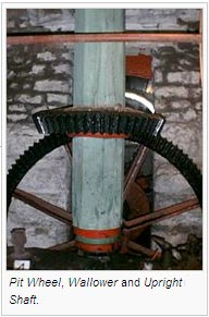 Pit Wheel, Wallower and Upright Shaft