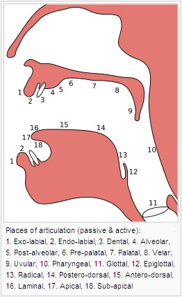 Place of articulation
