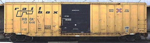 A Boxcar (US) Goods van (UK): rolling stock, used to transport freight