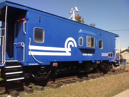 A Conrail ´Bay window´ caboose on display at the National New York Central Railroad Museum