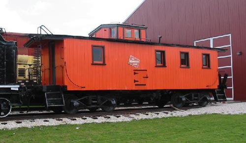 A Cupola style Caboose. Note the Angel Seat above