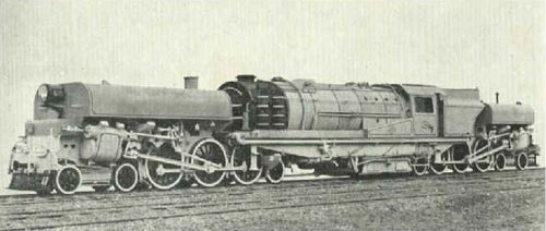 A Garratt locomotive