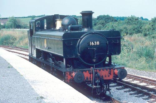 A Pannier tank steam locomotive