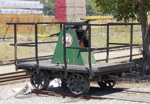 A handcar (pump trolley UK)