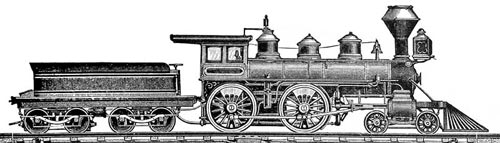 An American class steam locomotive