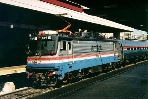 "An Amtrak AEM-7, sometimes called a ""toaster"""