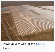 Aerial view of one of the SEGS plants