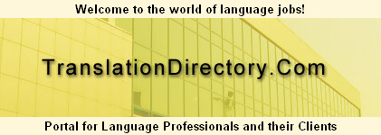 Do you have TranslationDirectory.com bookmarked in your browser?